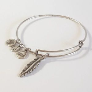 Alex and Ani Feather Charm Bangle Bracelet